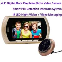 "Wholesale 4.3"" Digital Door Peephole Viewer Photo Video Camera Recorder Home Security Smart PIR Video Doorbell IR LED Night Vision from china suppliers"