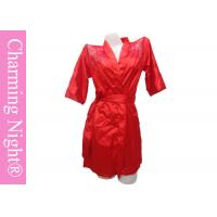 Wholesale Nice Mature Women Back Lace Satin Sexy Robe Lingerie Nightwear For Sleeping Wear from china suppliers