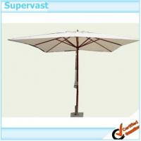 Wholesale Outdoor Square Wood Commercial Patio Umbrellas , 3m x 3m Wooden Platane Parasol from china suppliers