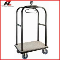 Quality Hotel Heavy Duty Luggage Trolley in Black Gold/Stainless Steel Belman Luggage Trolley for sale