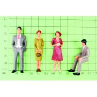 Wholesale P30-4 outdoor 1:30 Architectural Scale Model People Painted Figures 5.5cm from china suppliers