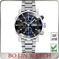 Buy cheap Solid 316 Stainless Steel Sports Watch , waterproof 3atm - 50atm Men Chronograph Watch from wholesalers