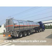 Wholesale 3 Axles 40,000 - 60,000 liters petrol tank trailer / fuel tank truck trailer from china suppliers