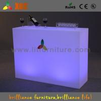 Wholesale Red Green Blue Changeable Plastic Lighted LED Cocktail Table For Outside Use from china suppliers