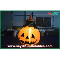 Wholesale Durable Halloween Inflatable Holiday Decorations Pumpkin Cat With Led Lighting from china suppliers