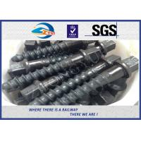 Wholesale Customized 35# 45# Railroad Screw Spike For Railway Fastening System Construction from china suppliers