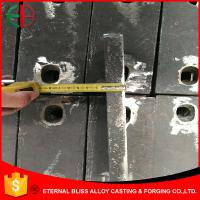 Wholesale HBW600XCr35 High Chrome Jaw Plates White Iron Mill Liners for Mine Mills EB11047 from china suppliers