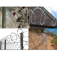 Wholesale Hot Dip Gal Stainless Steel Razor Barbed Wire Mesh Fencing For Prison Security Fence from china suppliers