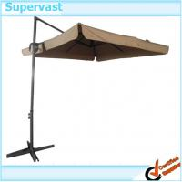 Wholesale Garden Steel Patio Furniture , 2.6M Parasol Square Hanging Umbrella with Flap from china suppliers