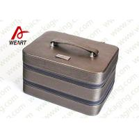 Wholesale Silver / Grey Surface Personalised Makeup Box Cosmetic Storage Case OEM from china suppliers