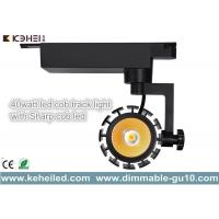 Wholesale High Power 40W Sharp COB LED Track Lights 50lm/W with pure aluminum heat sink from china suppliers