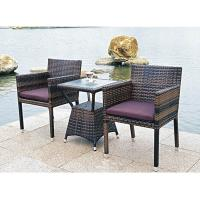 Wholesale Bistro outdoor furniture wicker table and chair from china suppliers