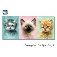 China Home / Hotel Wall Photo 3D Effect Printing Lovely Cat / Dog Stereograph on sale