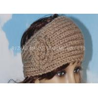 Wholesale Brown Knitted Flower Headband Elastic Ear Warmer Crochet Headbands For Babies from china suppliers