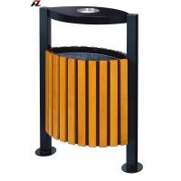 Wholesale Metal and Wood Street Rubbish Bin-Rubbish Barrel from china suppliers