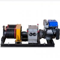 Wholesale High Efficiency Double Drum 5 Ton Gas Engine Powered Winch For Lifting from china suppliers