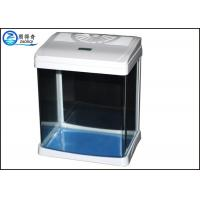 Wholesale White Luxury Mini Glass Aquarium Tanks Aquarium LED Light For Home from china suppliers