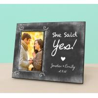 Wholesale Engaged Photo Frame - She Said Yes - Personalized Engagement Frame - Engagement Reveal -Pe from china suppliers