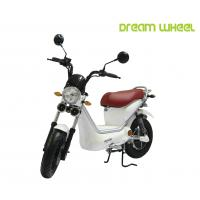 Wholesale White Color Pedals Assist Electric Scooter Bike For Adults , 500w Brushless Controller from china suppliers