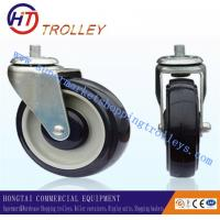 """Quality 125 mm Shopping Trolley Spare Parts Blue Universal 5"""" PU Castors for sale"""