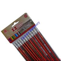 Wholesale 7 inches 12pcs strip HB pencil set -promotional hb pencil triangle wood pencil from china suppliers