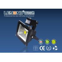 Wholesale 5000k Outdoor Led PIR Floodlight With Motion Sensor , Gray & Black Housing from china suppliers
