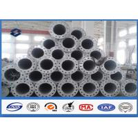 Wholesale 10M Galvanized tubular steel pole 110kv Voltage Painting Surface Coating from china suppliers