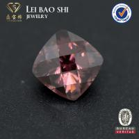 Quality 7*7mm 3A/5A quality  colored square checker cut semiprecious synthetic cz gemstone with cheap price for sale