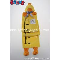 Quality Hang Baby Yellow Duck Height Measurement Plush Animal Growth Chart for sale