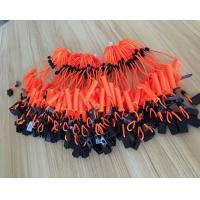 Wholesale Plastic orange short spiral spring coil lanyard leash with black plastic clip safety coils from china suppliers