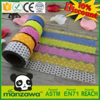 Wholesale custom high quality rice paper tape washy paper tape with die cut shape from china suppliers