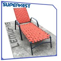 Wholesale Cheap Outdoor Furniture Garden Patio Chairs Cross Weave Garden Patio Strap Chaise Lounge from china suppliers