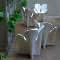 Wholesale Creative design flower shape FRP outdoor chairs from china suppliers