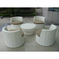 Wholesale Metal Frame And White Poly Rattan Obelisk Chair For Beach / Balcony from china suppliers
