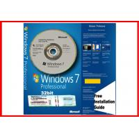 Wholesale Microsoft Windows 7 Pro Professional 32Bit 64Bit SP1 COA License Key & Hologram DVD Original from china suppliers