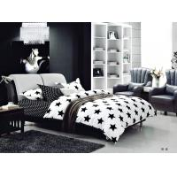 Wholesale 100 Percent Polyester Girls Bedroom Bet Sets Black And Whtie Striped Bedding from china suppliers