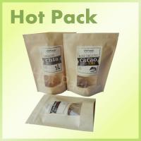 Wholesale Resealable Stand Up Kraft Paper Pouch Food Packaging Bag With Window from china suppliers