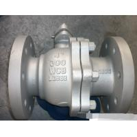Wholesale ANSI 300LB Flanged Ball Valve , API608 Carbon Steel Floating Type Ball Valve from china suppliers