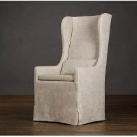 Wholesale Comfortable American Style white Fabric Dining Chair with WingBack Slipcovered from china suppliers