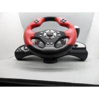 Wholesale video game steerng wheel with foot pedal for PC PC360 PS2 PS3  with dual vibration from china suppliers