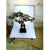 Quality Abstract Horse Head Copper Imitation Resin Products for Commercial Areas Furniture Decoration for sale