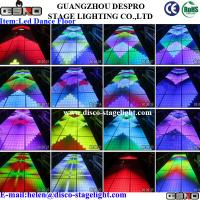 Wholesale RGB Interactive LED Dance Floor Lights Graphic Effect For Wedding Decorating from china suppliers