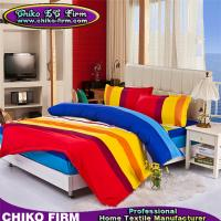 Wholesale 100% Microfiber Material Rainbow Colorful Stripes New Design Fitted Sheet Sets from china suppliers