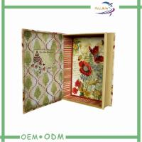 Quality Book Shape Magnetic Gift Boxes , Full Color Offset Printing Paper Cardboard Box for sale