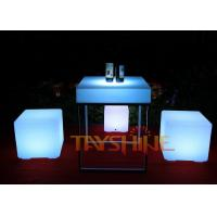 Wholesale Waterproof Remote Control LED Pub Table With Matel Leg , Light Up Cubes Furniture from china suppliers