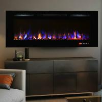 "Wholesale wall mounted fireplace 50"" long linear colorful flame effect touch panel front heating for living room from china suppliers"