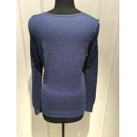 Quality Different Material Women'S Pullover Sweater With 14gg Thin Plain Knitting for sale