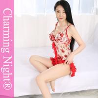 Wholesale ODM Fashion Erotic Nylon Print Mature Women Sexy Night Dress Lingerie from china suppliers