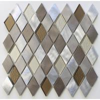 Wholesale Diamond Shaped Backsplash Mosaic Glass Tile Sheets , Mosaic Glass Wall Tiles For Kitchen from china suppliers