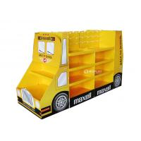 Wholesale Cookies Promoting Cardboard Display Rack School Bus Shaped UV Coated from china suppliers